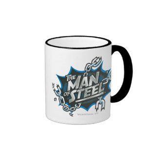 Superman Stylized | Man of Steel Splash Logo Ringer Mug