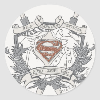 Superman Stylized | Mild Mannered Reporter Logo Classic Round Sticker