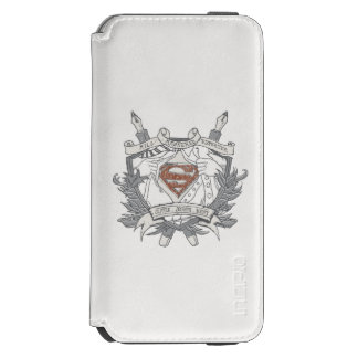Superman Stylized | Mild Mannered Reporter Logo iPhone 6/6s Wallet Case