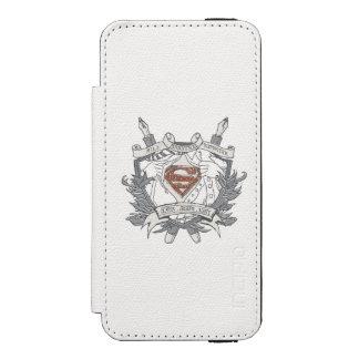 Superman Stylized | Mild Mannered Reporter Logo iPhone SE/5/5s Wallet Case
