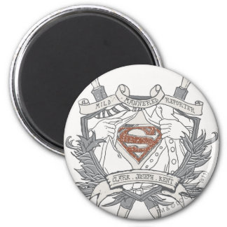 Superman Stylized   Mild Mannered Reporter Logo Magnet