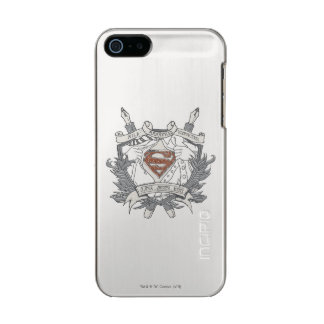 Superman Stylized | Mild Mannered Reporter Logo Metallic iPhone SE/5/5s Case