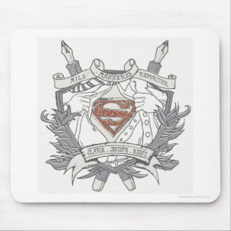 Superman Stylized | Mild Mannered Reporter Logo Mouse Pad