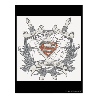 Superman Stylized | Mild Mannered Reporter Logo Postcard