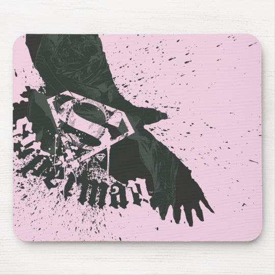 Superman Stylized | Pink with Bird Logo Mouse Pad