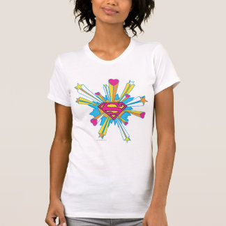 Superman Stylized | Pink with Hearts Logo T-shirt