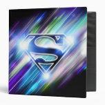 Superman Stylized | Shiny Blue Burst Logo Binder