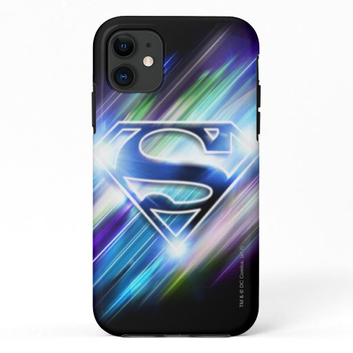 Superman Stylized | Shiny Blue Burst Logo iPhone 11 Case