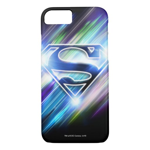 Superman Stylized | Shiny Blue Burst Logo iPhone 8/7 Case