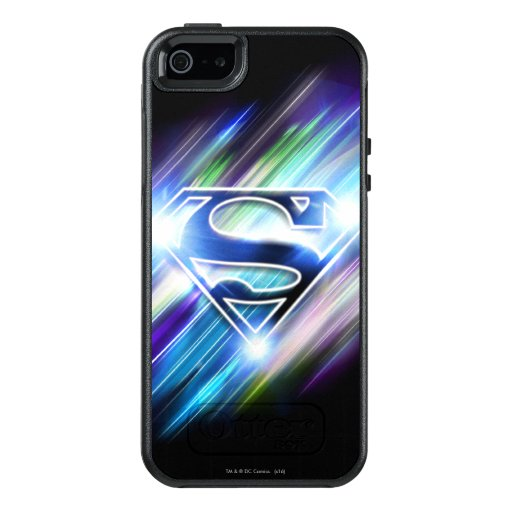 Superman Stylized | Shiny Blue Burst Logo OtterBox iPhone 5/5s/SE Case