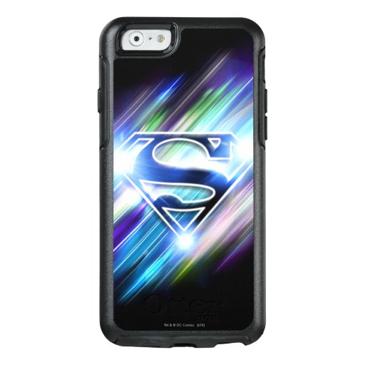 Superman Stylized | Shiny Blue Burst Logo OtterBox iPhone 6/6s Case