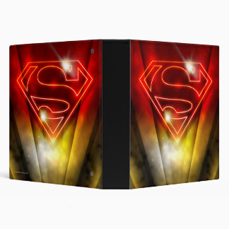 Superman Stylized   Shiny Red Outline Logo Binder