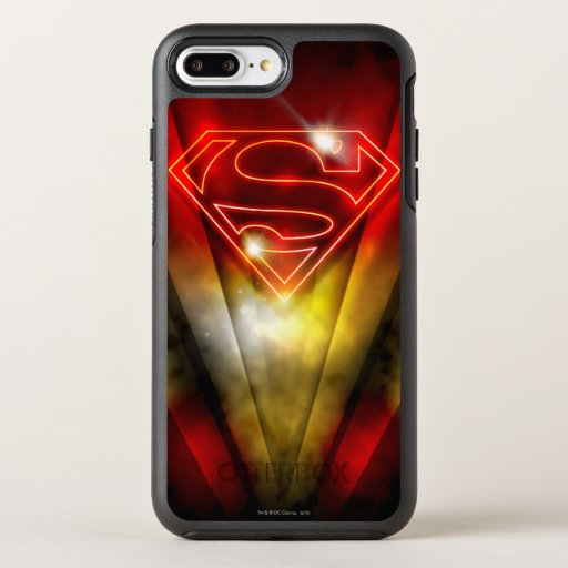 Superman Stylized | Shiny Red Outline Logo OtterBox Symmetry iPhone 8 Plus/7 Plus Case