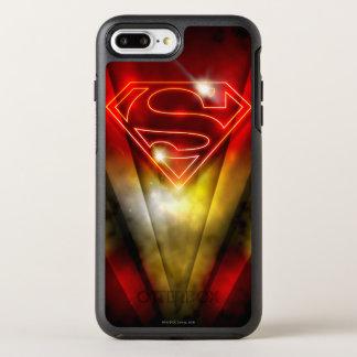 Superman Stylized | Shiny Red Outline Logo OtterBox Symmetry iPhone 8 Plus/7 Plus Case