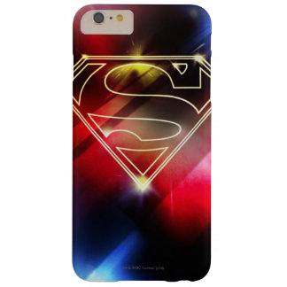 Superman Stylized | Shiny Yellow Outline Logo Barely There iPhone 6 Plus Case