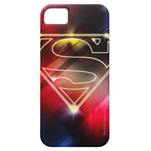 Superman Stylized | Shiny Yellow Outline Logo iPhone SE/5/5s Case
