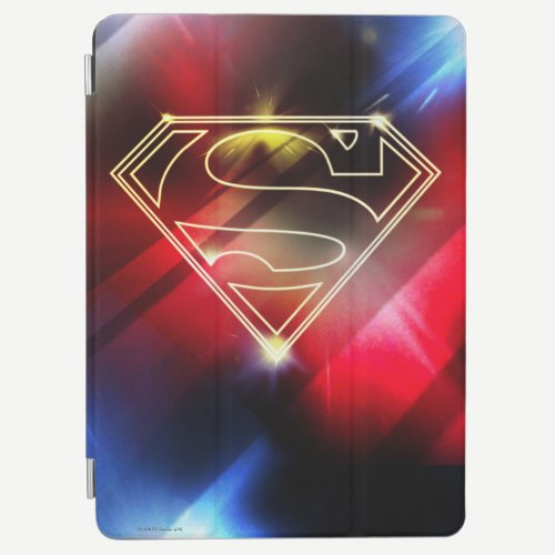 Superman Stylized | Shiny Yellow Outline Logo iPad Air Cover