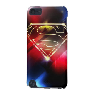 Superman Stylized   Shiny Yellow Outline Logo iPod Touch 5G Case