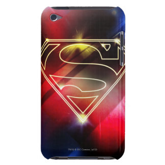 Superman Stylized   Shiny Yellow Outline Logo iPod Touch Cover