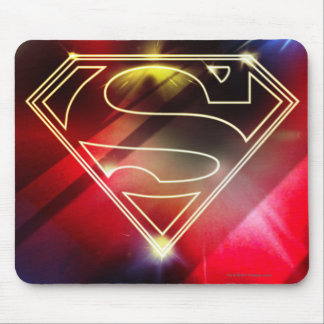 Superman Stylized | Shiny Yellow Outline Logo Mouse Pad