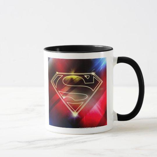 Superman Stylized | Shiny Yellow Outline Logo Mug