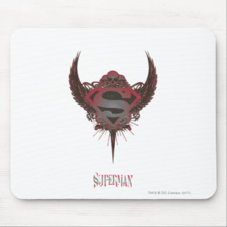 Superman Stylized | Skull and Wings Logo Mouse Pad