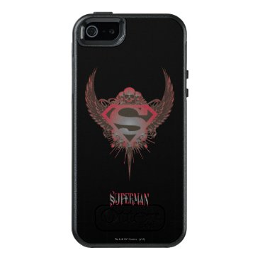 Superman Stylized | Skull and Wings Logo OtterBox iPhone 5/5s/SE Case