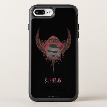 Superman Stylized | Skull and Wings Logo OtterBox Symmetry iPhone 8 Plus/7 Plus Case