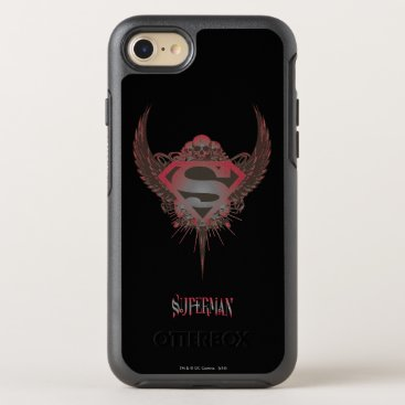 Superman Stylized | Skull and Wings Logo OtterBox Symmetry iPhone 8/7 Case