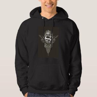 Superman Stylized   Star and Skull Logo Hoodie