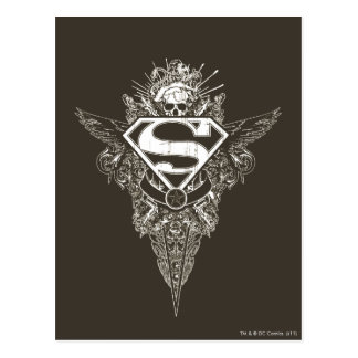 Superman Stylized | Star and Skull Logo Postcard
