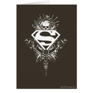 Superman Stylized | Star and Skull White Logo Card