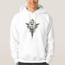 Superman Stylized | Star and Skull White Logo Hoodie