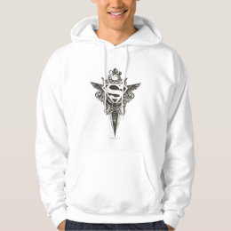 Superman Stylized | Star and Skull White Logo Hoodie