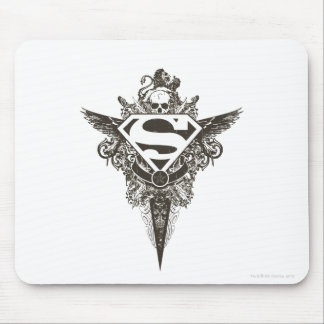Superman Stylized | Star and Skull White Logo Mouse Pad