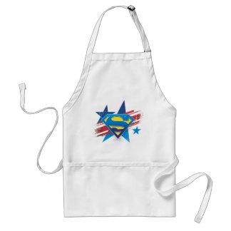 Superman Stylized | Stars and Stripes Logo Adult Apron