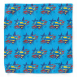 Superman Stylized | Stars and Stripes Logo Bandana