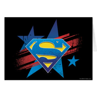 Superman Stylized | Stars and Stripes Logo Card