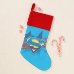 Superman Stylized   Stars and Stripes Logo Christmas Stocking