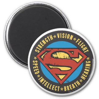 Superman Stylized | Strength Vision Flight Logo 2 Inch Round Magnet