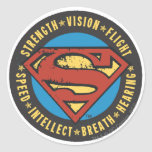 Superman Stylized | Strength Vision Flight Logo Classic Round Sticker