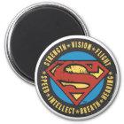Superman Stylized   Strength Vision Flight Logo Magnet