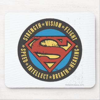 Superman Stylized | Strength Vision Flight Logo Mouse Pad