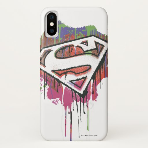 Superman Stylized   Twisted Innocence Logo iPhone X Case