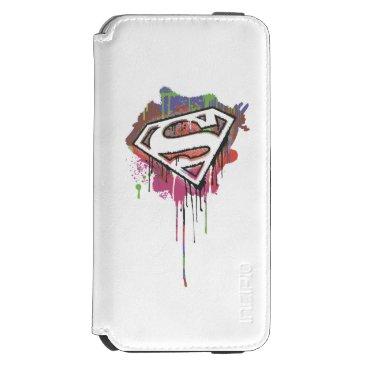 Superman Stylized   Twisted Innocence Logo iPhone 6/6s Wallet Case