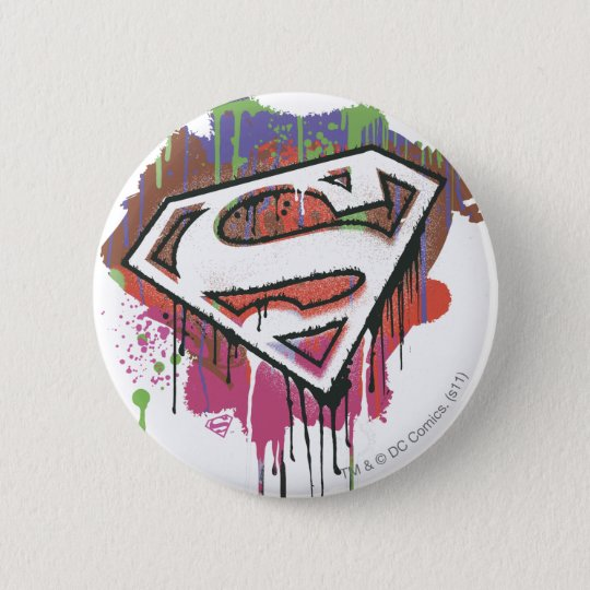 Superman Stylized | Twisted Innocence Logo Pinback Button