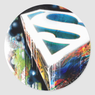 Superman Stylized | Urban Graffiti Logo Classic Round Sticker