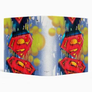 Superman Stylized   Urban Spraypaint Logo Binder