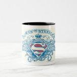 Superman Stylized | Wings and Arms Logo Two-Tone Coffee Mug