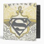Superman Stylized | Yellow Drawn Trains Logo Binder